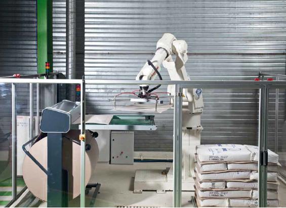 Automatizace uložení protiskluzné lepenky